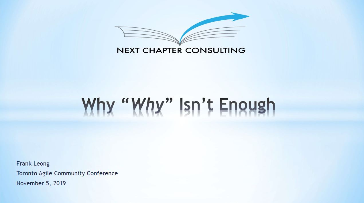 Why 'Why' Isn't Enough Title Page